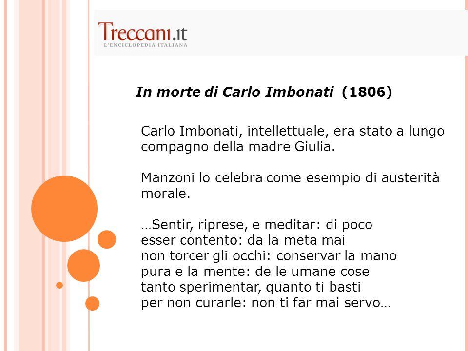 In morte di Carlo Imbonati (1806)