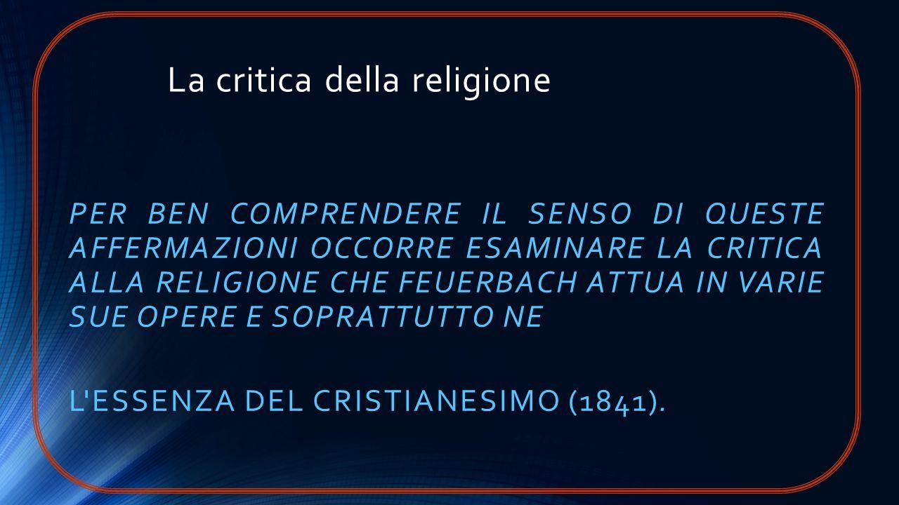 La critica della religione