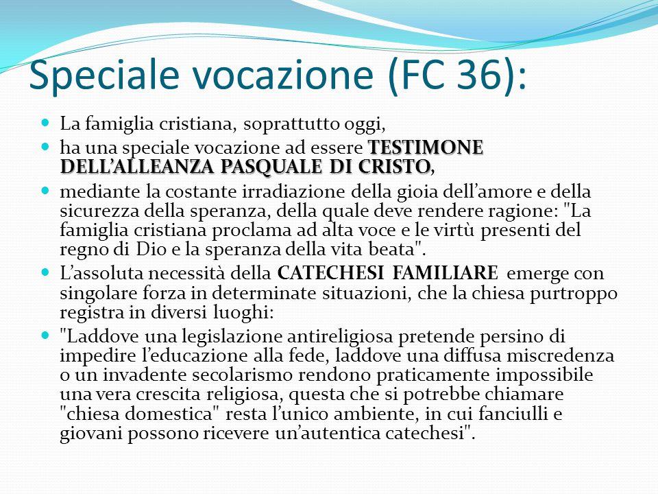 Speciale vocazione (FC 36):