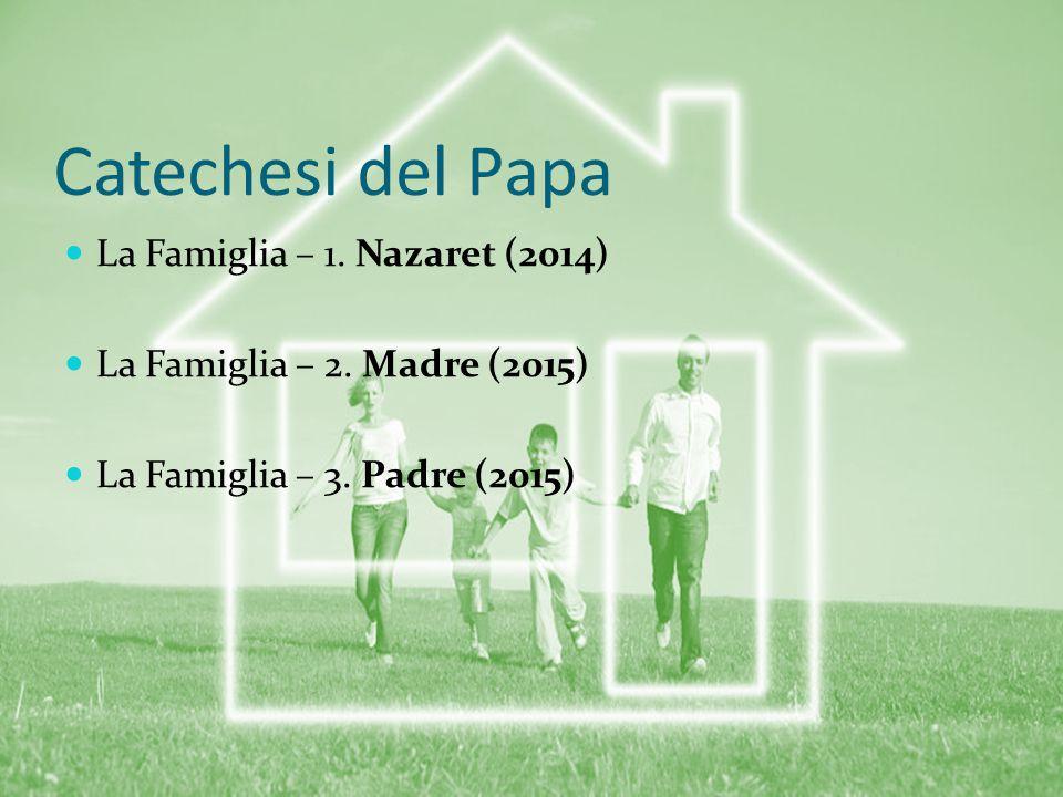 Catechesi del Papa La Famiglia – 1. Nazaret (2014)