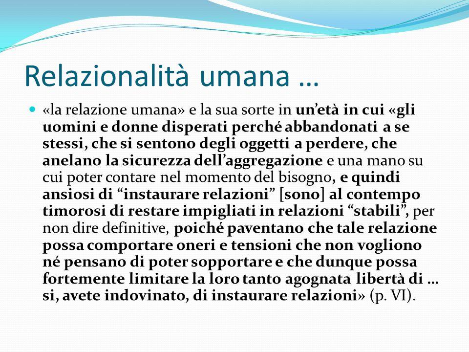 Relazionalità umana …