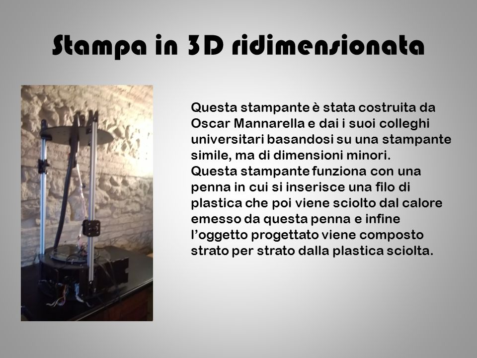 Stampa in 3D ridimensionata