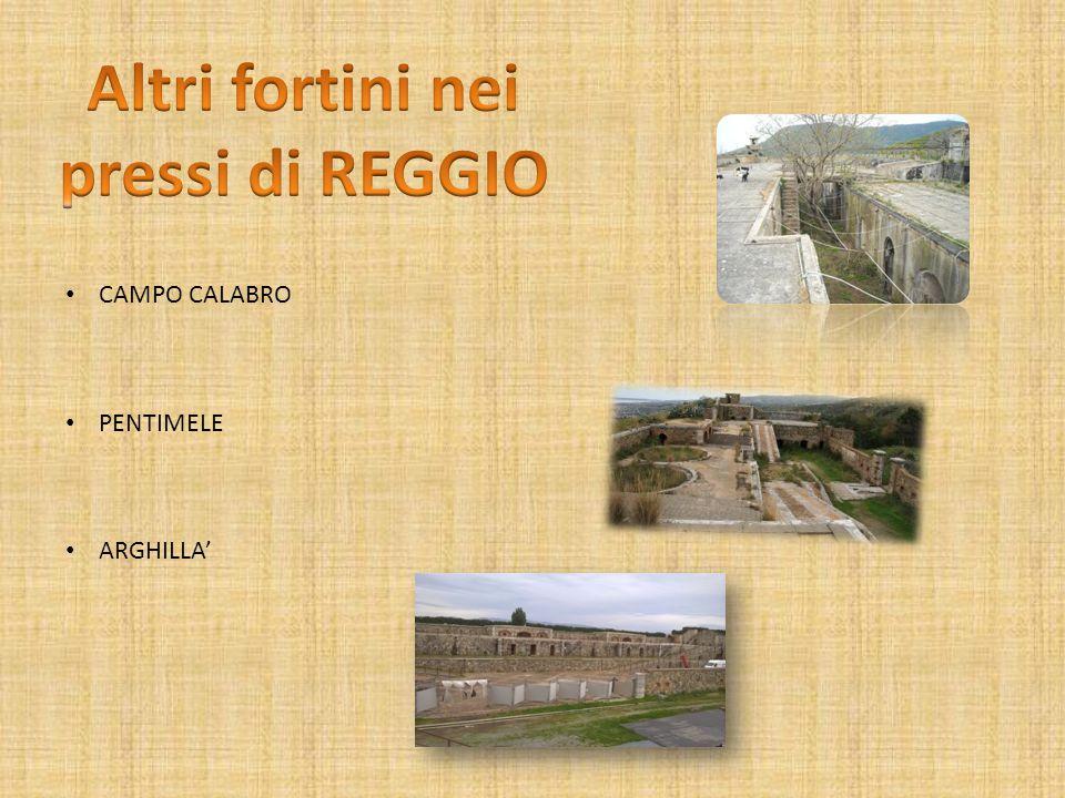 Altri fortini nei pressi di REGGIO