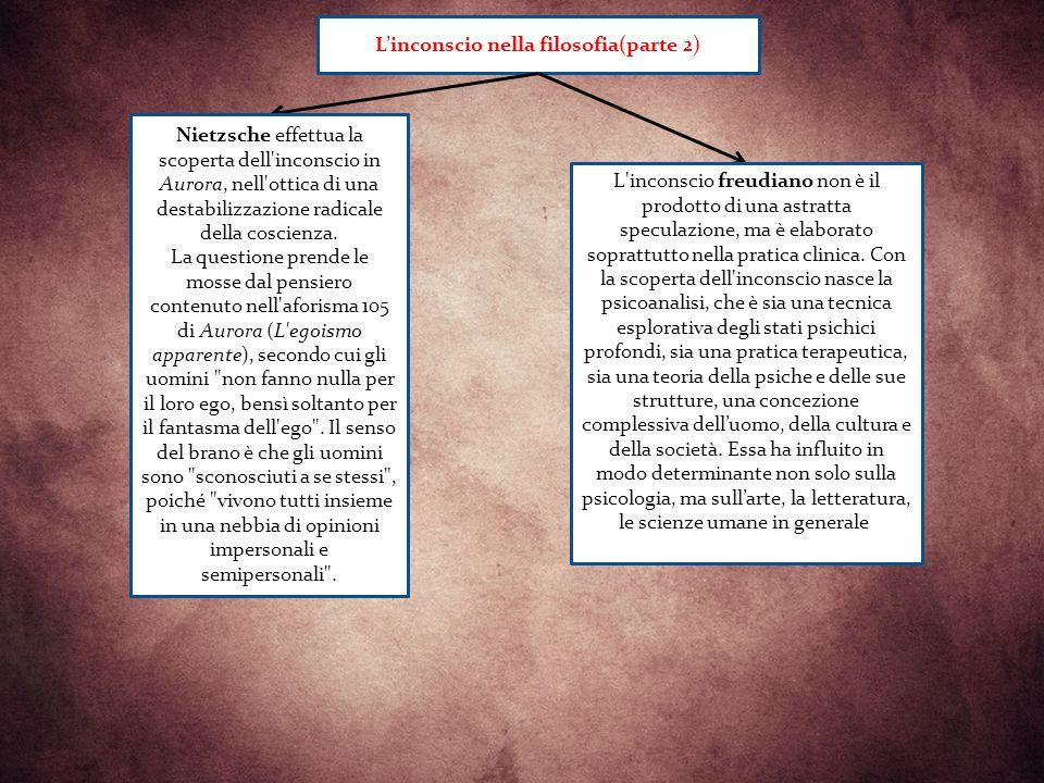 L'inconscio nella filosofia(parte 2)