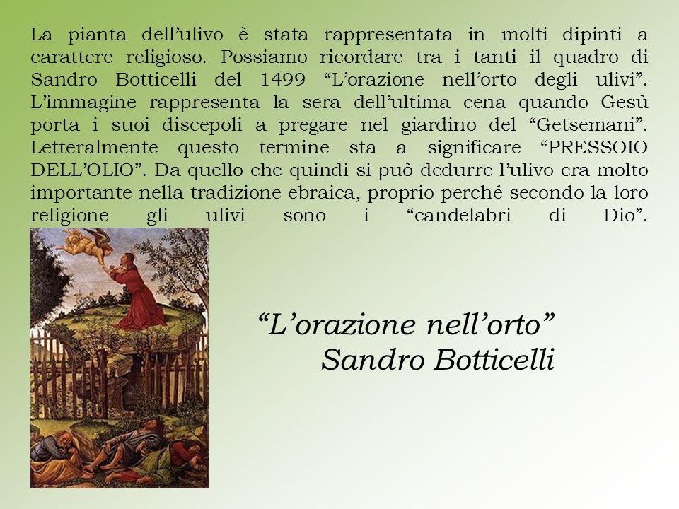 L'orazione nell'orto Sandro Botticelli