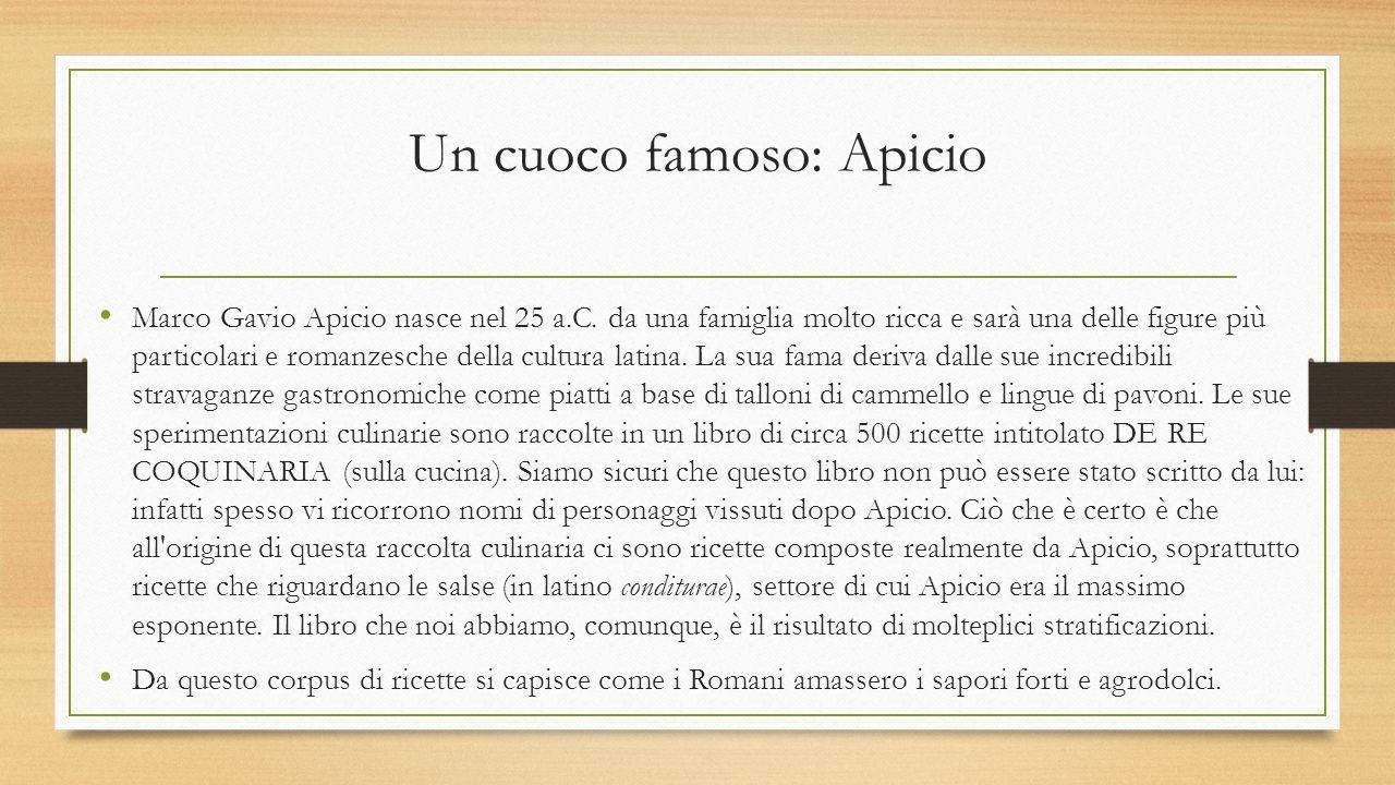 Un cuoco famoso: Apicio