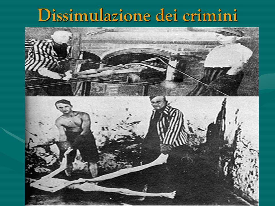 Dissimulazione dei crimini