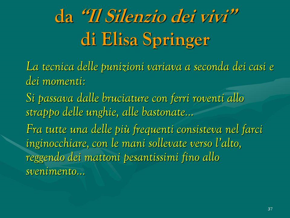 da Il Silenzio dei vivi di Elisa Springer