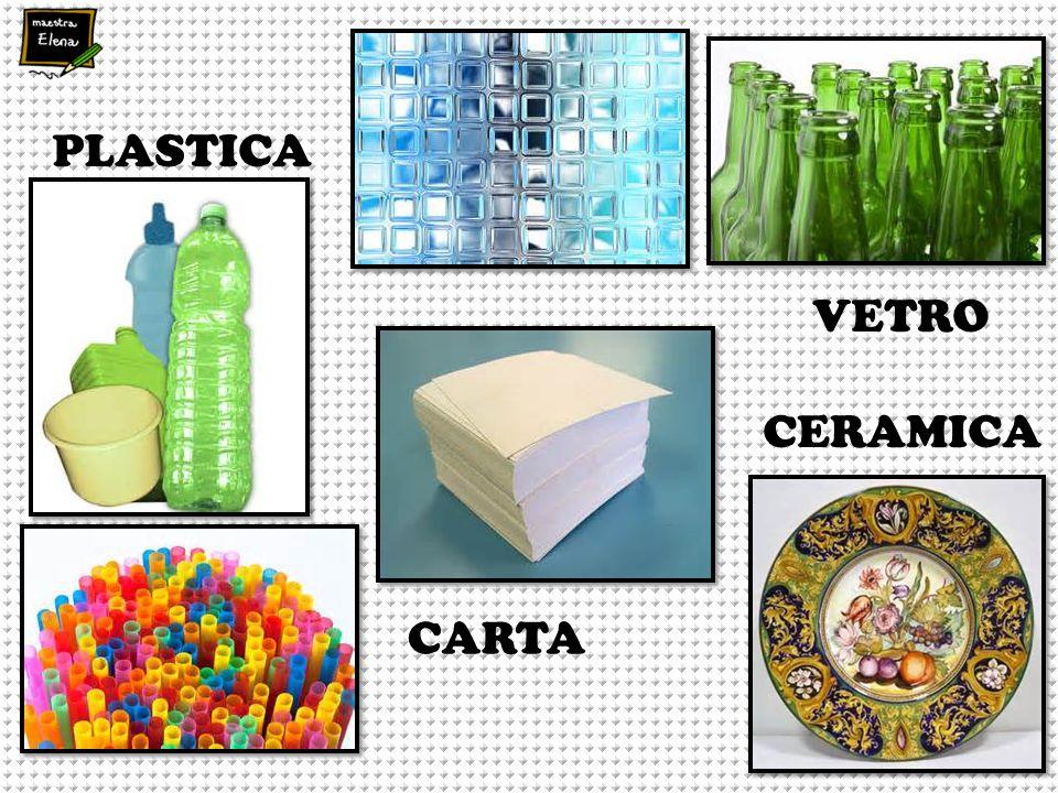 PLASTICA VETRO CERAMICA CARTA