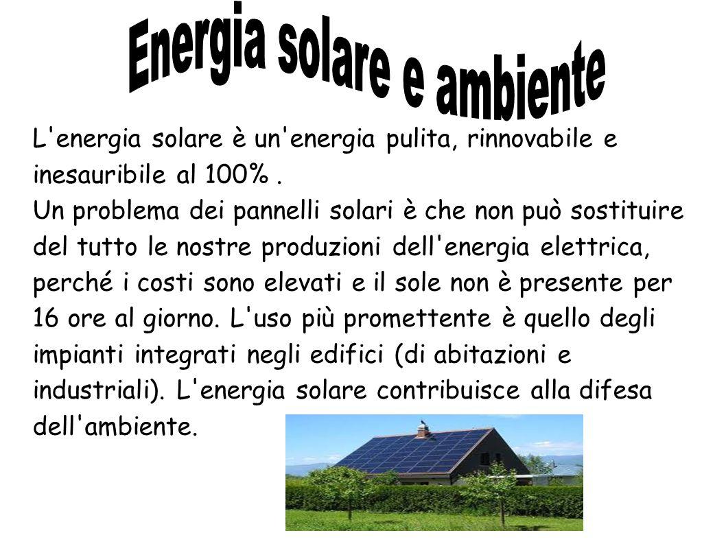 Energia solare e ambiente