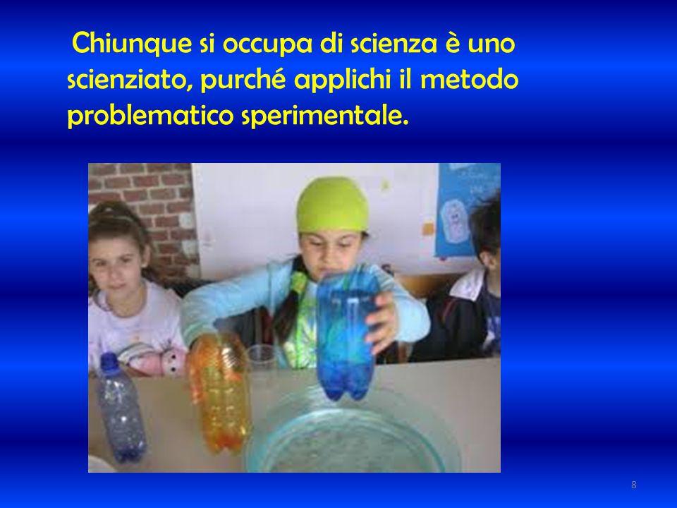 Chiunque si occupa di scienza è uno scienziato, purché applichi il metodo problematico sperimentale.