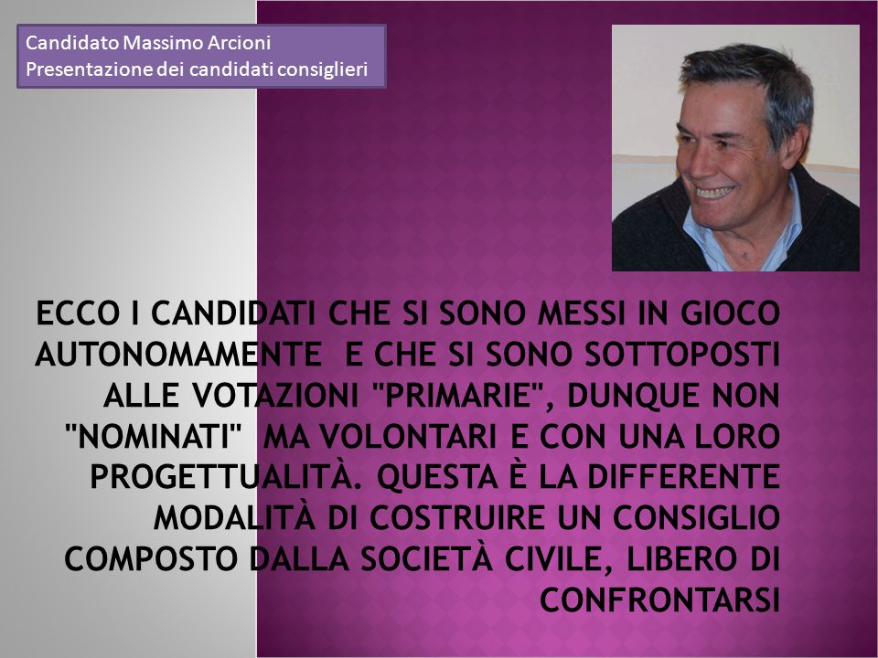 Candidato Massimo Arcioni