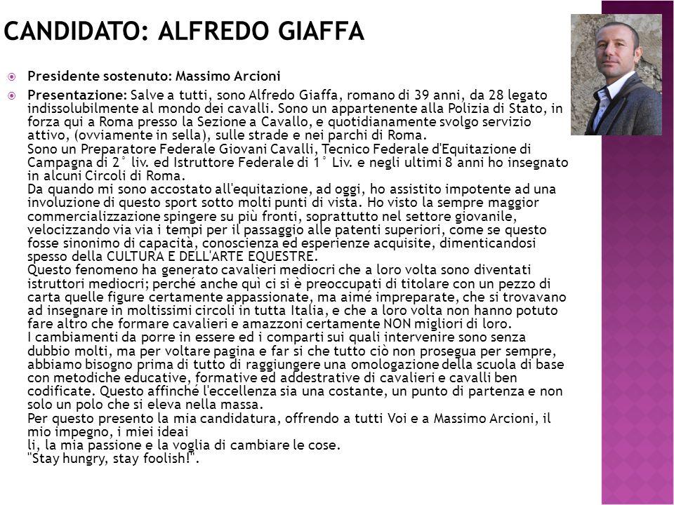 Candidato: Alfredo Giaffa