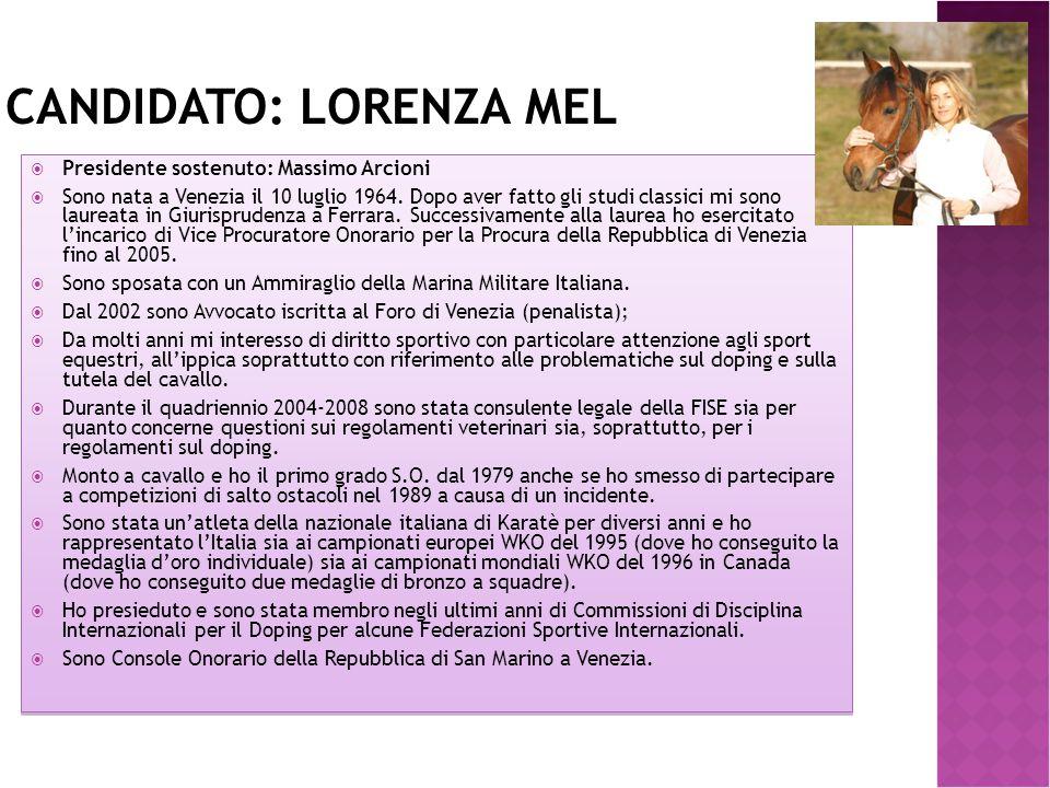 Candidato: Lorenza Mel