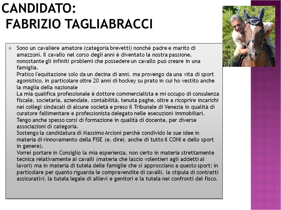 Candidato: Fabrizio Tagliabracci