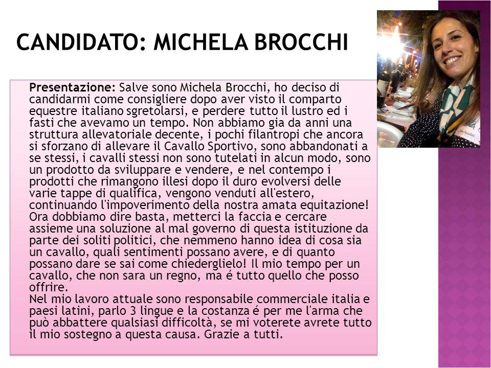 Candidato: MICHELA BROCCHI
