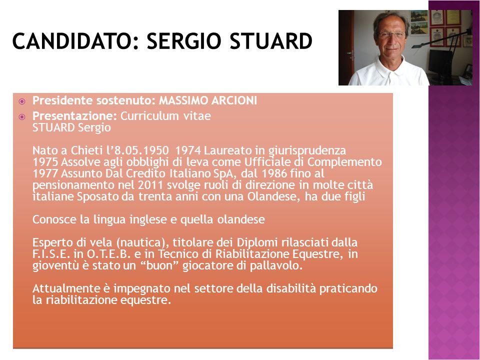 Candidato: SERGIO STUARD