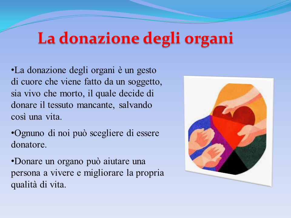 La donazione degli organi