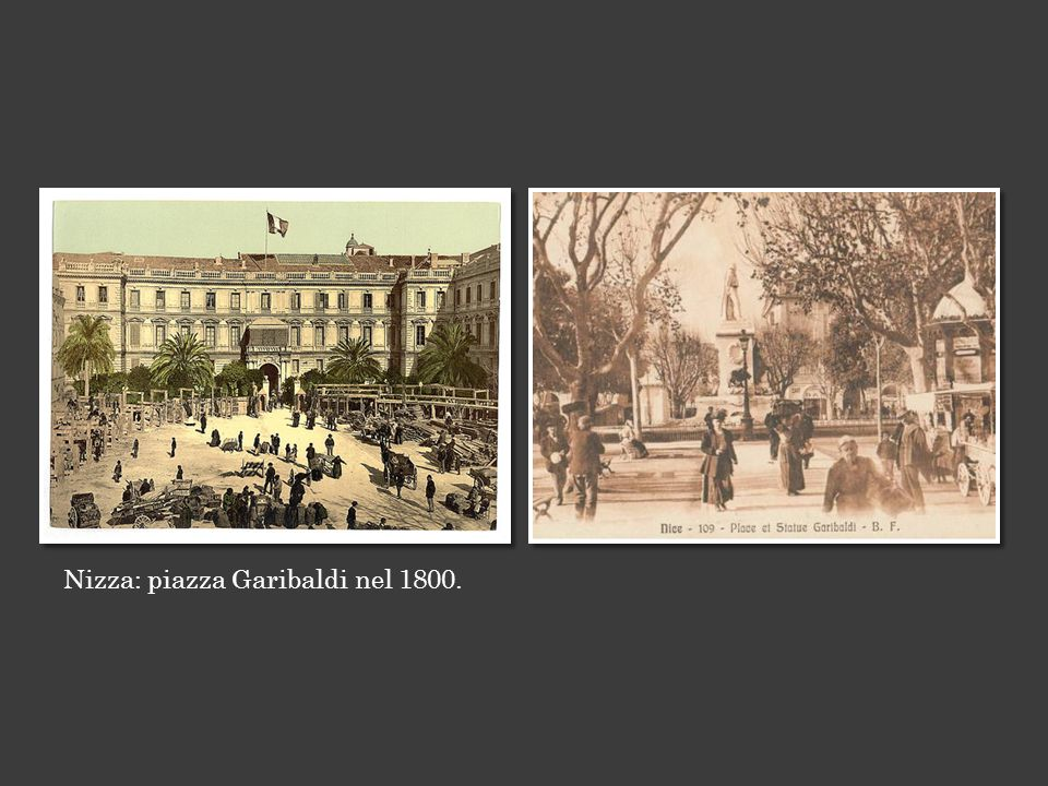 Nizza: piazza Garibaldi nel 1800.