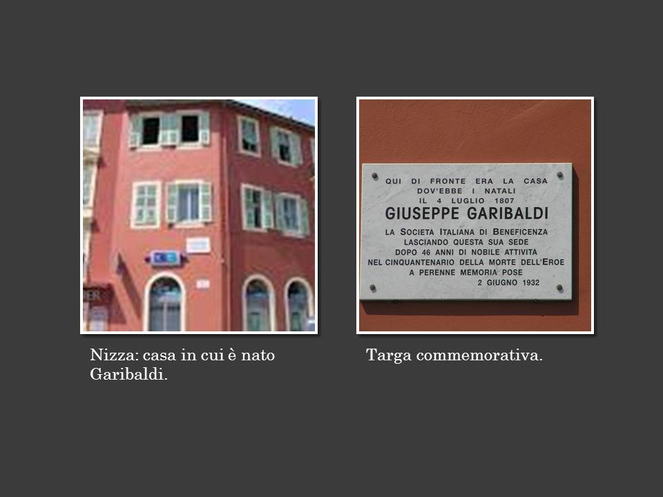 Nizza: casa in cui è nato Garibaldi.