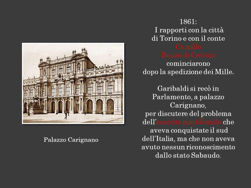 di Torino e con il conte Camillo Benso di Cavour cominciarono