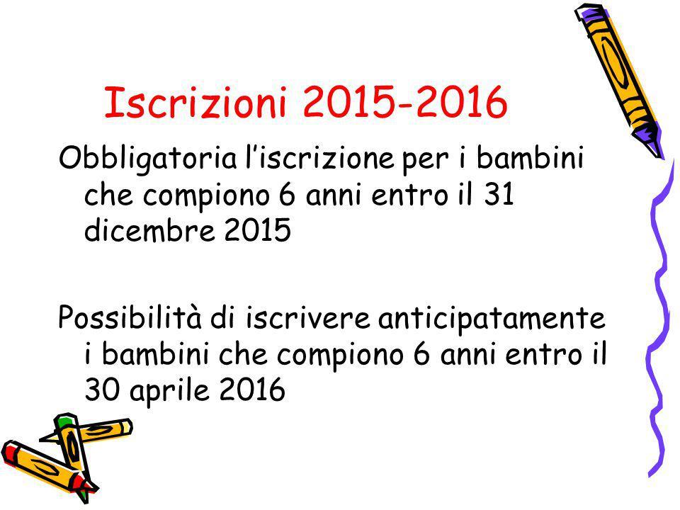Iscrizioni 2015-2016