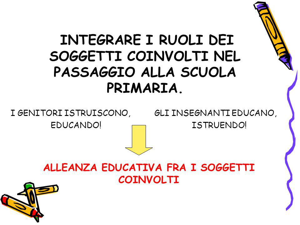 ALLEANZA EDUCATIVA FRA I SOGGETTI COINVOLTI