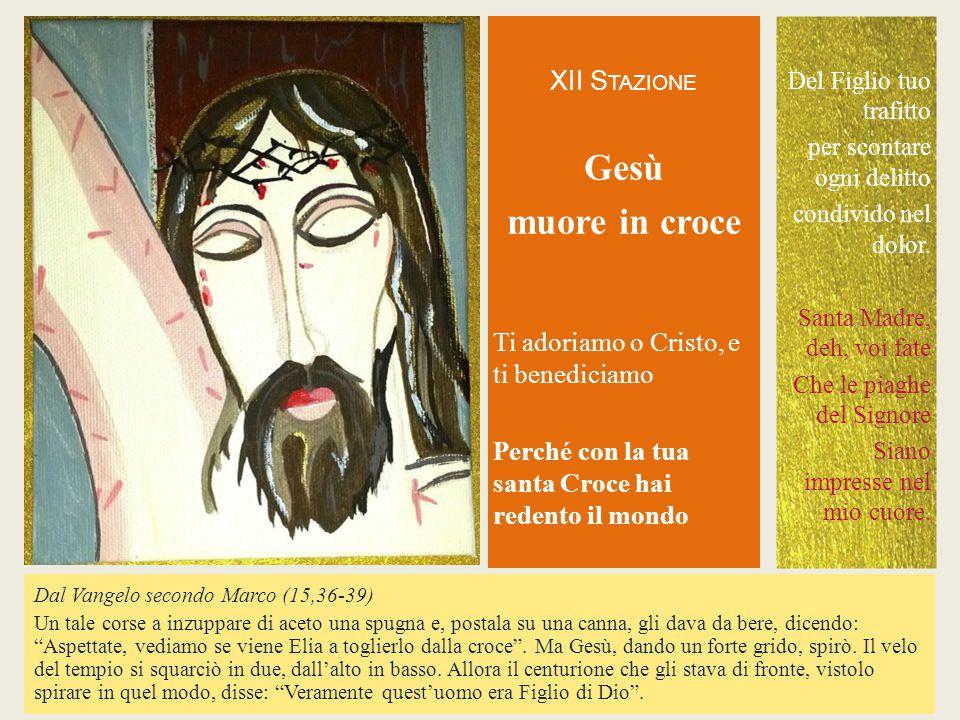 Gesù muore in croce XII STAZIONE