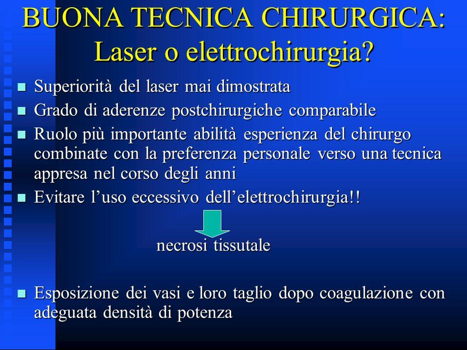 BUONA TECNICA CHIRURGICA: Laser o elettrochirurgia