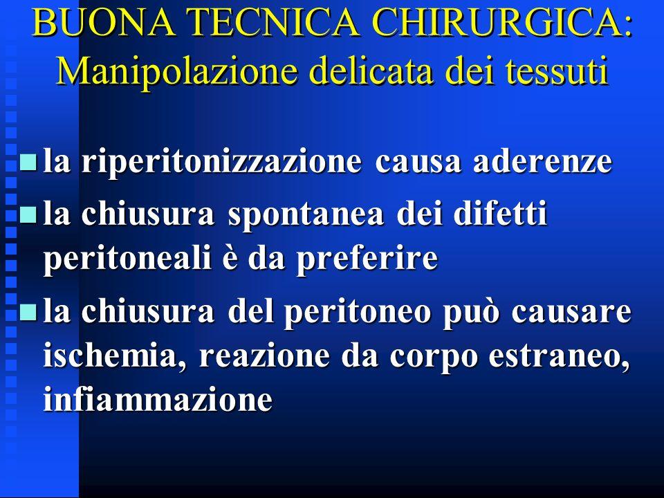BUONA TECNICA CHIRURGICA: Manipolazione delicata dei tessuti