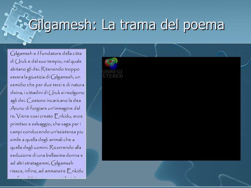 Gilgamesh: La trama del poema