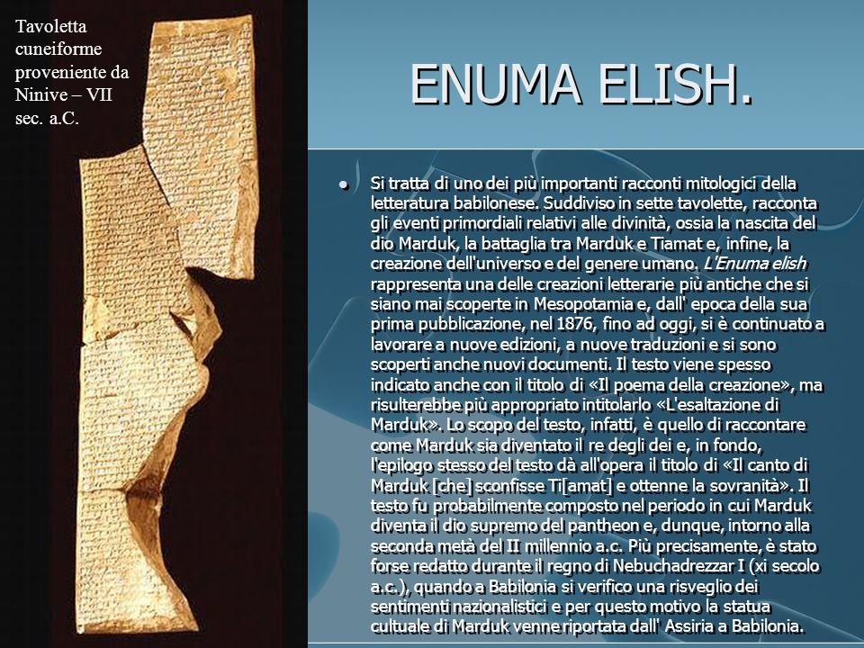 Tavoletta cuneiforme proveniente da Ninive – VII sec. a.C.