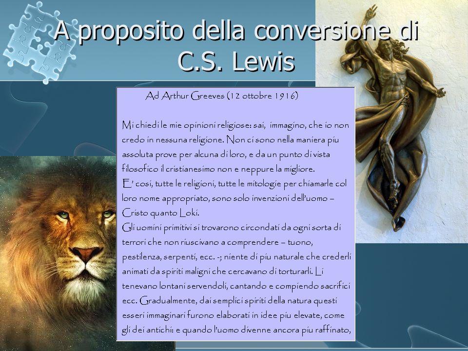 A proposito della conversione di C.S. Lewis