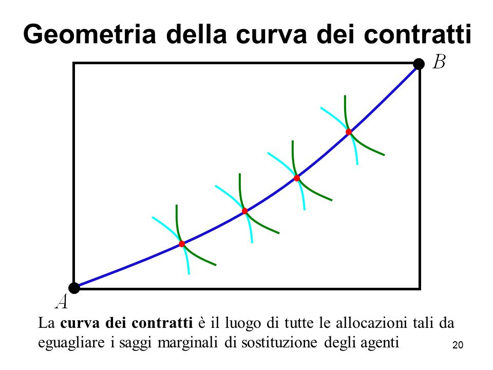 Geometria della curva dei contratti