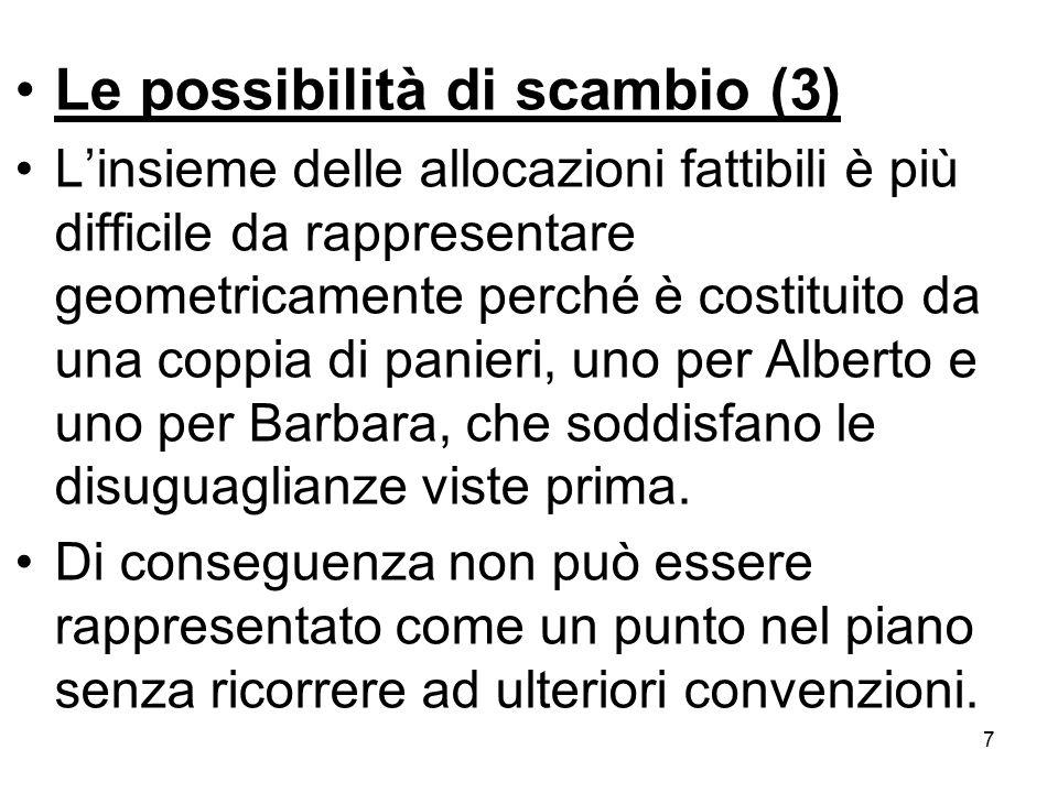 Le possibilità di scambio (3)