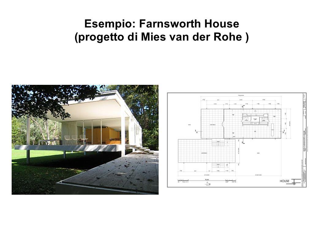 Esempio: Farnsworth House (progetto di Mies van der Rohe )