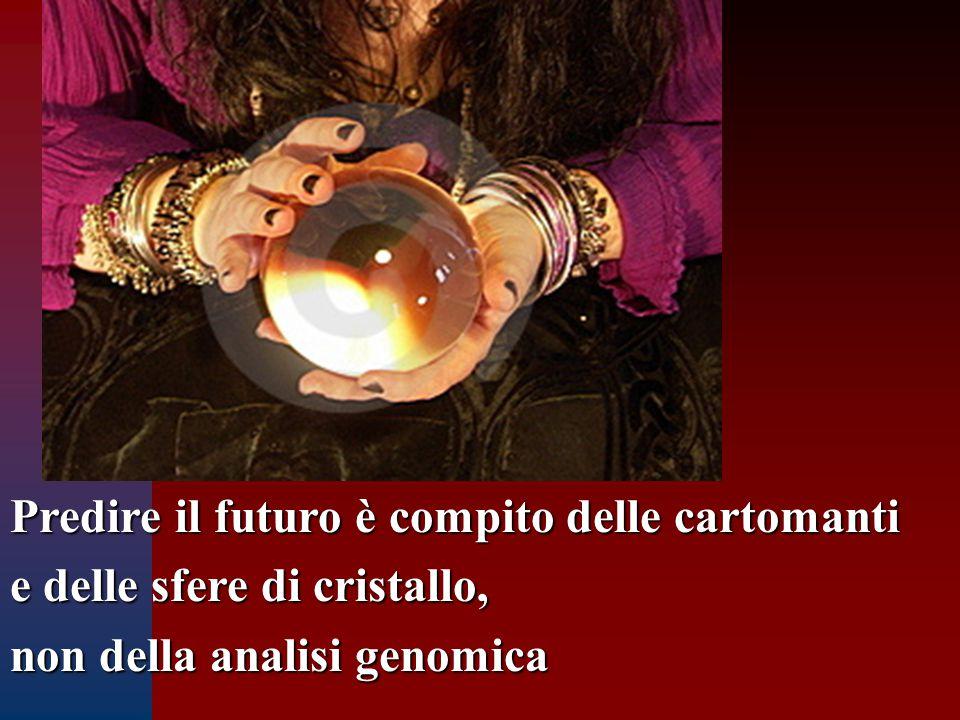 Predire il futuro è compito delle cartomanti