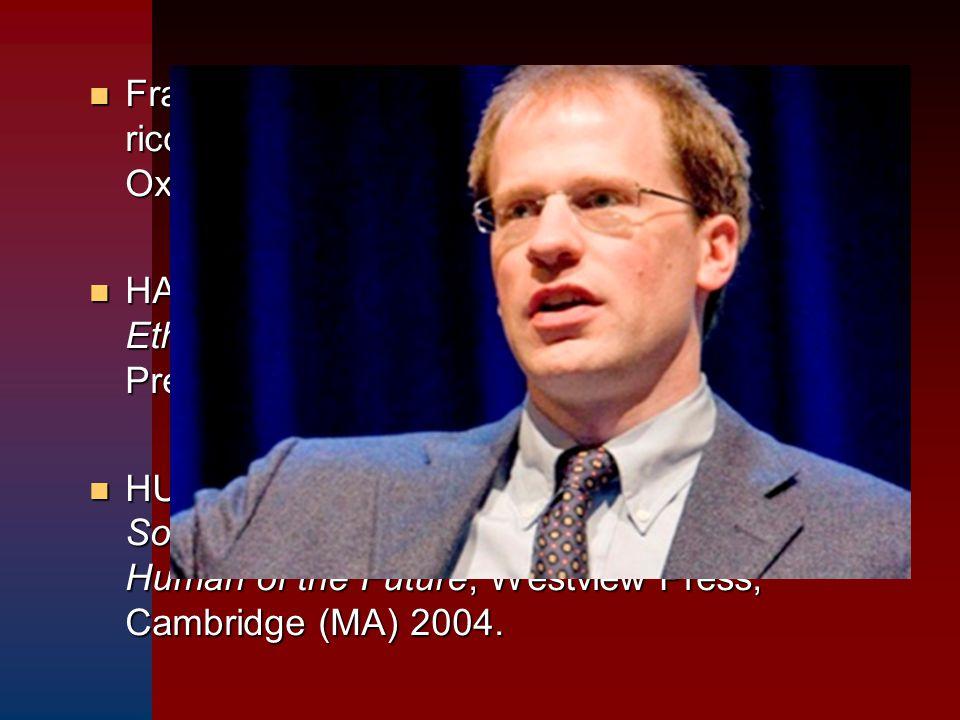 Fra i maggiori teorici del transumanismo ricordiamo NICK BOSTROM, professore ad Oxford.