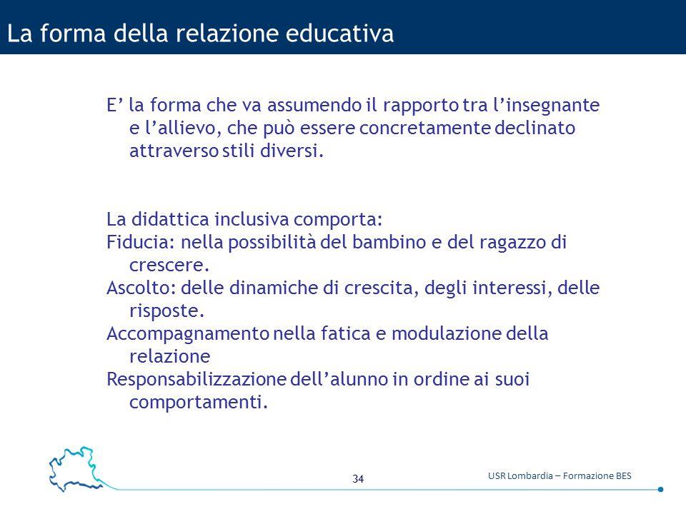 La forma della relazione educativa