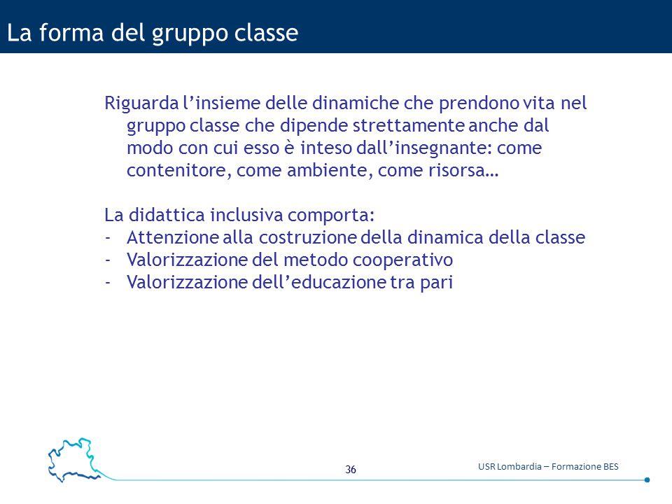 La forma del gruppo classe