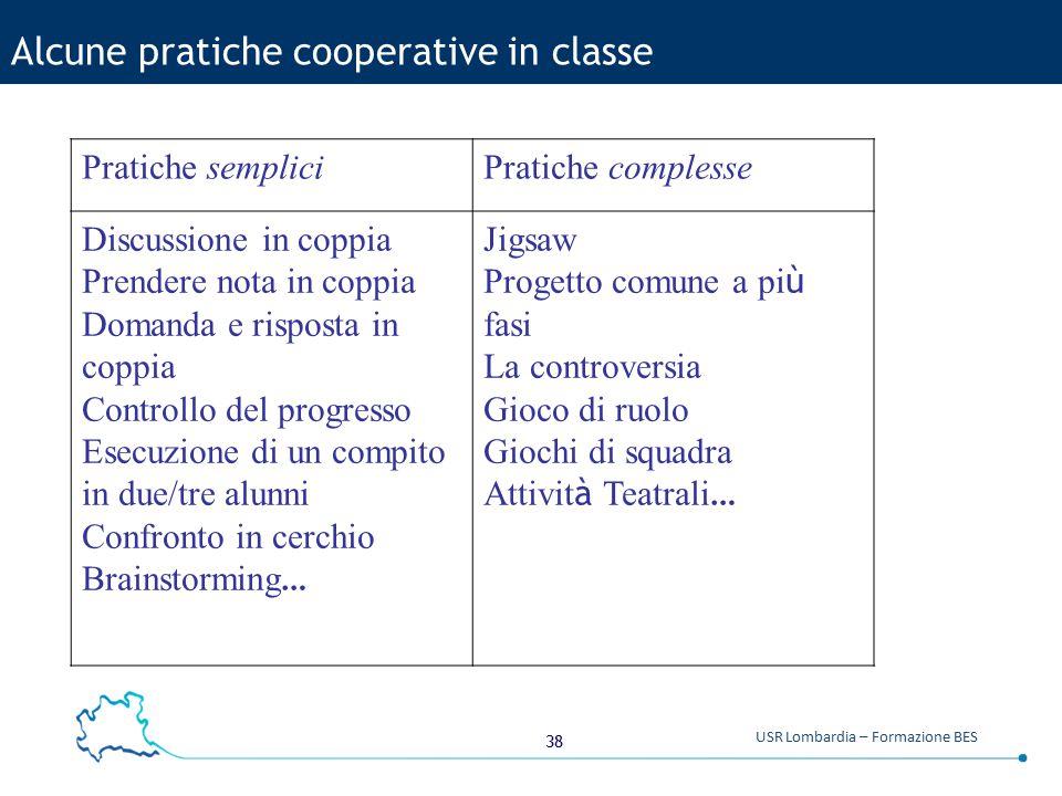 Alcune pratiche cooperative in classe