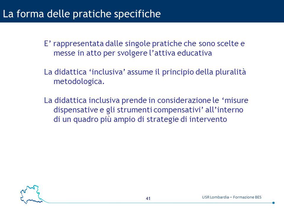 La forma delle pratiche specifiche