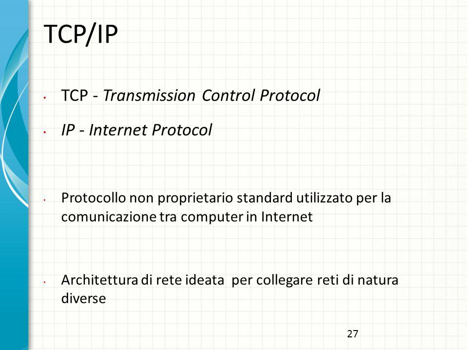 TCP/IP TCP - Transmission Control Protocol IP - Internet Protocol