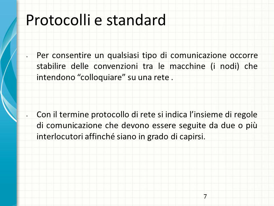 Protocolli e standard