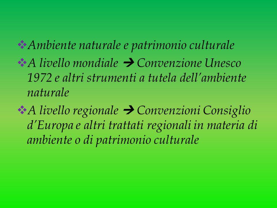 Ambiente naturale e patrimonio culturale
