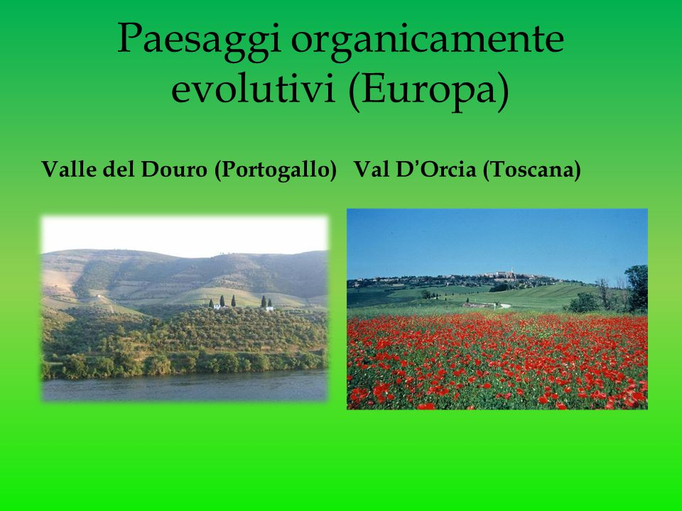Paesaggi organicamente evolutivi (Europa)