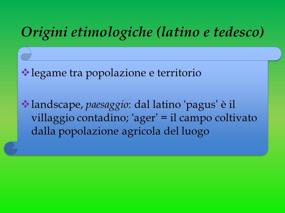 Origini etimologiche (latino e tedesco)