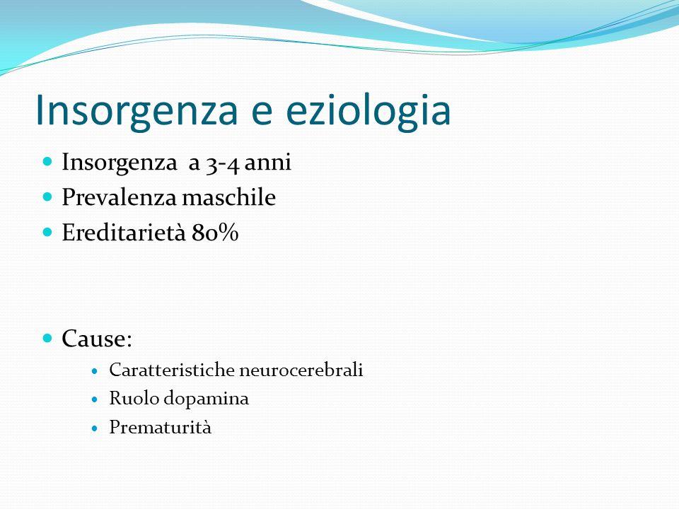 Insorgenza e eziologia