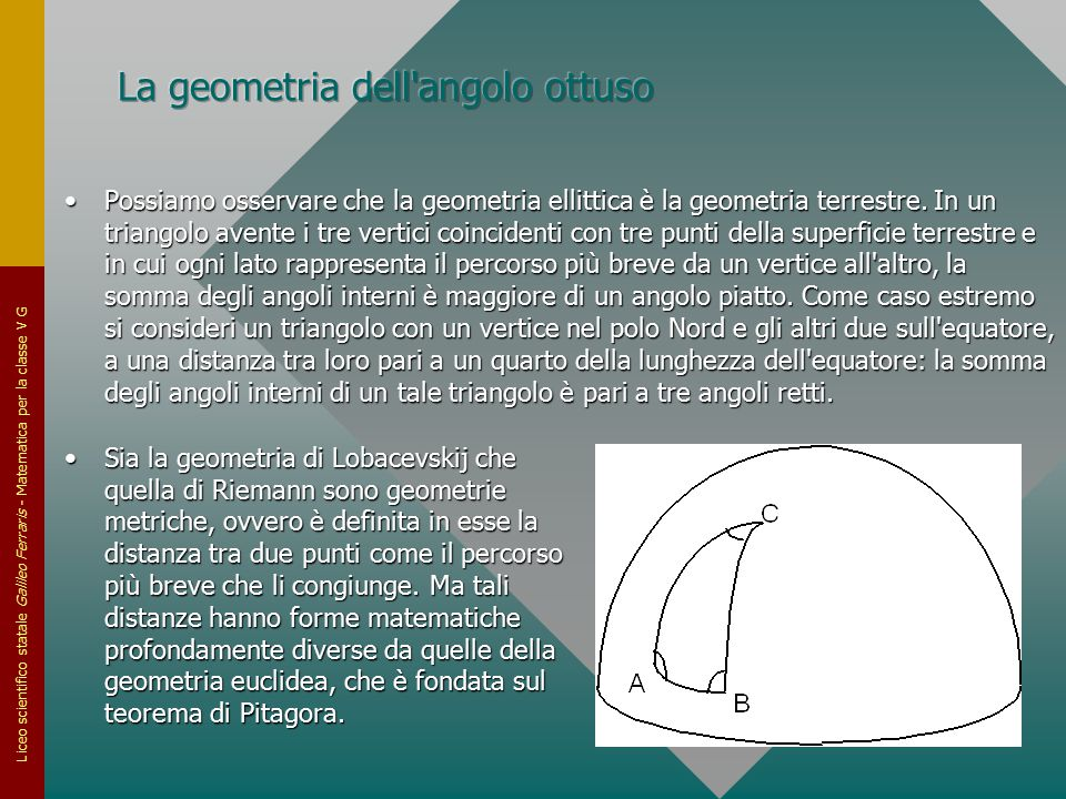 La geometria dell angolo ottuso