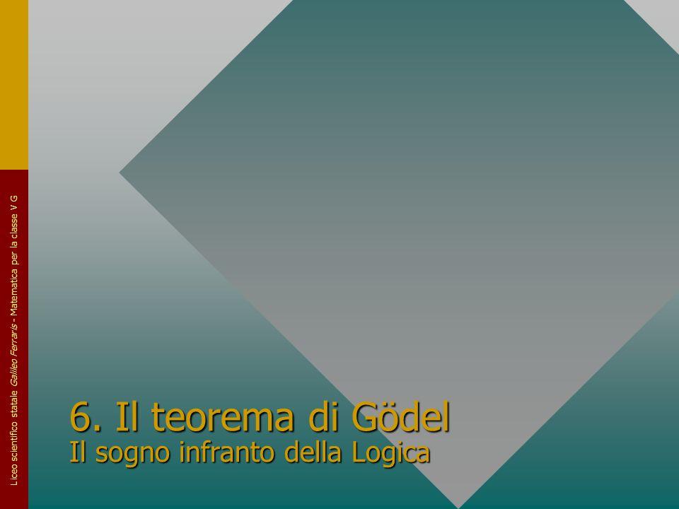 6. Il teorema di Gödel Il sogno infranto della Logica